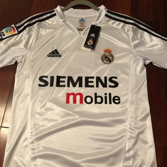 02c2a5ade Retro Real Madrid  5 Zinedine Zidane Jersey